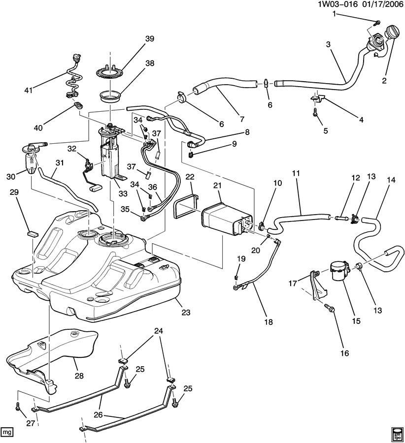 Chevrolet Impala Strap. Fuel tank evaporator/purge control