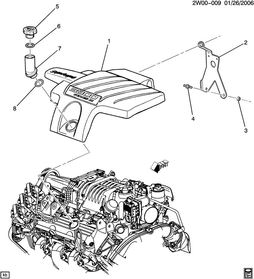 Pontiac Grand Prix GT 4DR Bracket. Engine fuel intake