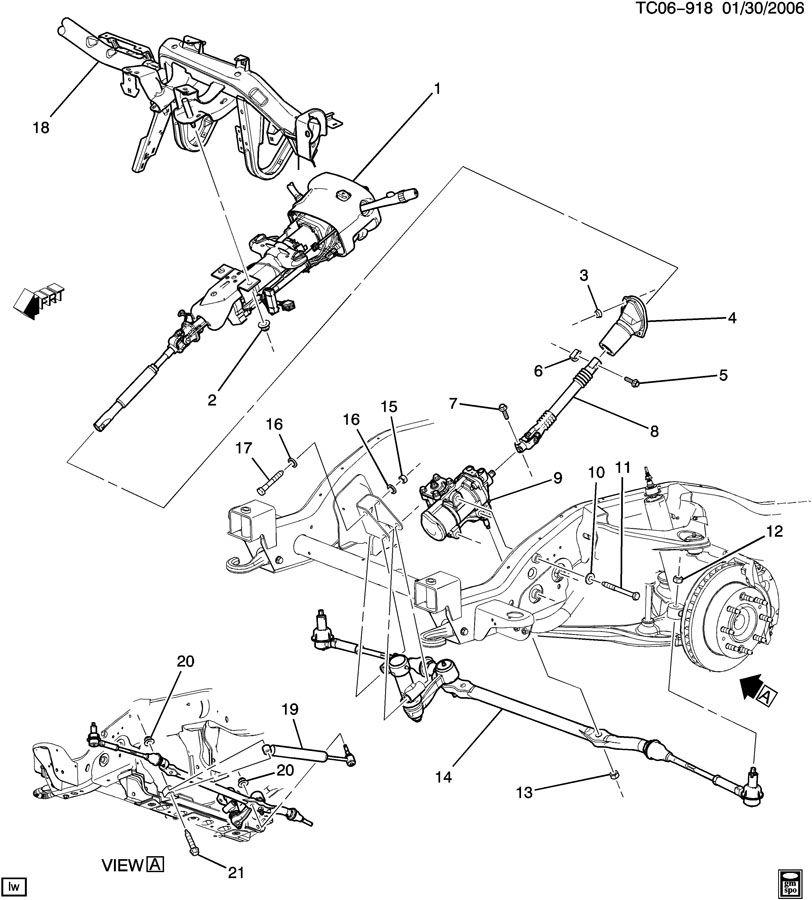 2007 Cadillac ESCALADE ESV STEERING SYSTEM & RELATED PARTS