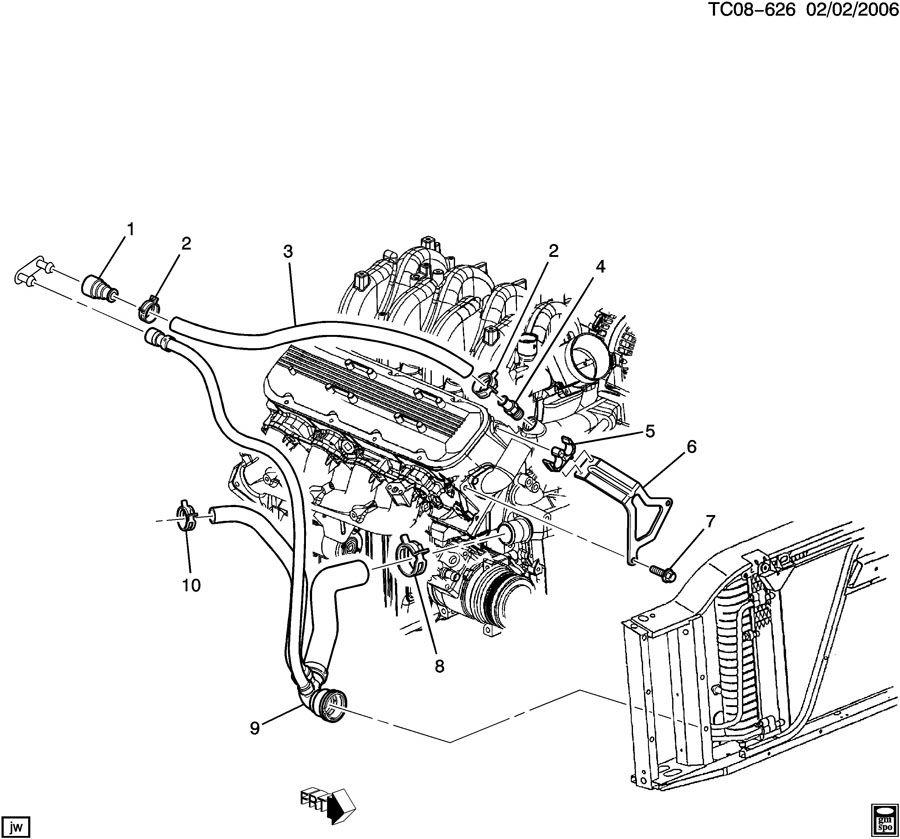 2005 Chevrolet Tahoe Hose. Heater. Hose, htr inl(incls