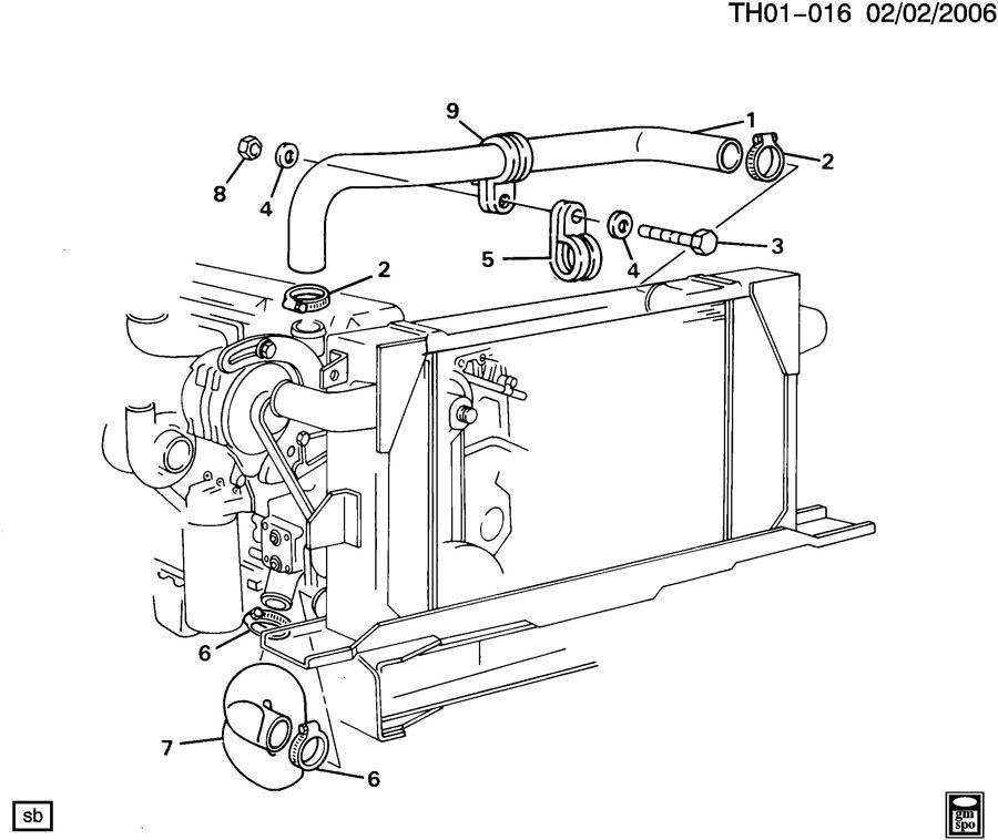 2000 GMC C6500 Hose. Radiator outlet (lower). Hose, rad