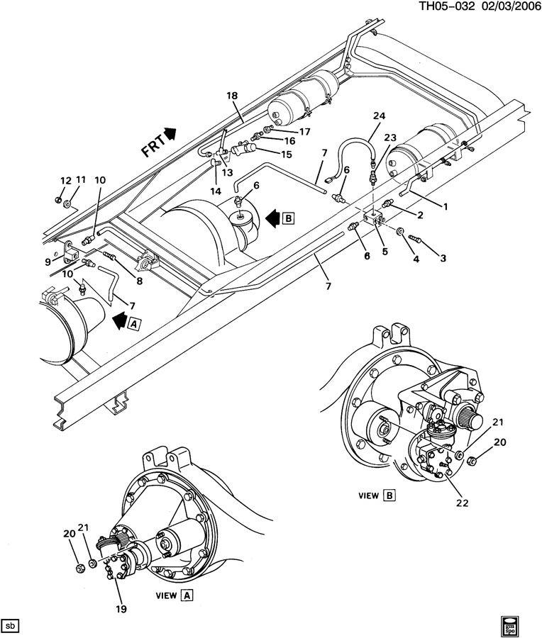 TWO SPEED REAR AXLE SHIFT CONTROL- MOTOR, HARNESS & LINES