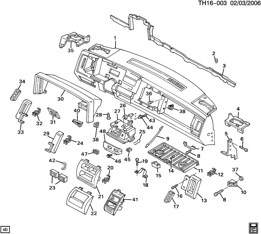 INSTRUMENT PANEL & RELATED PARTS PART 2