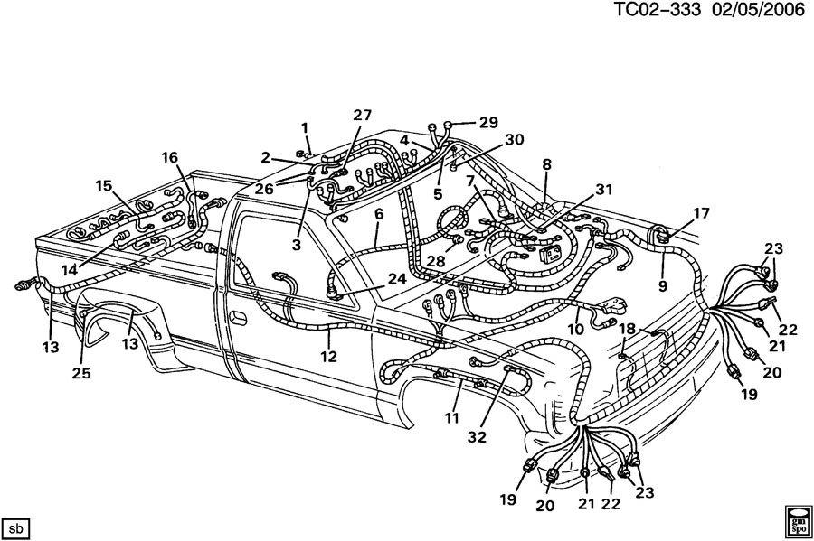 1996 gmc sonoma horn wiring diagram
