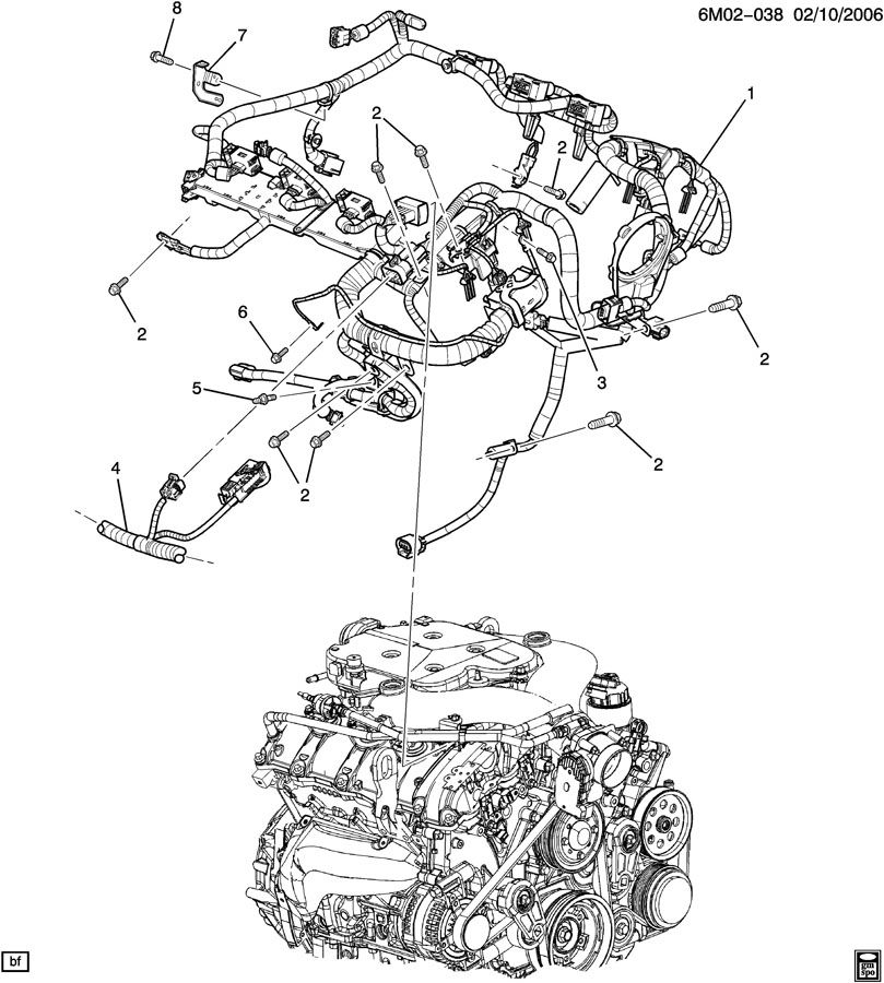 Cadillac CTS WIRING HARNESS/ENGINE ASM
