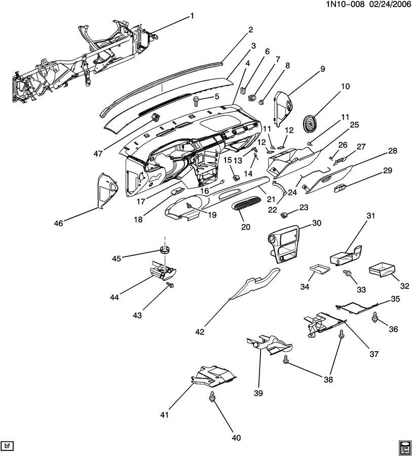 2001 Chevrolet Malibu Ashtray. Instrument panel ashtray