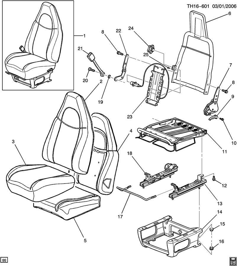GMC C4500 DRIVER SEAT/BUCKET
