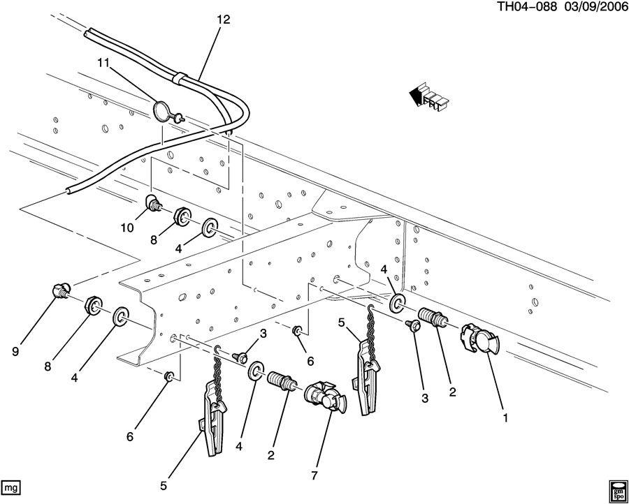 GMC C8500 Elbow. Air brake pipe/hose. Elbowfrt, elbowrr