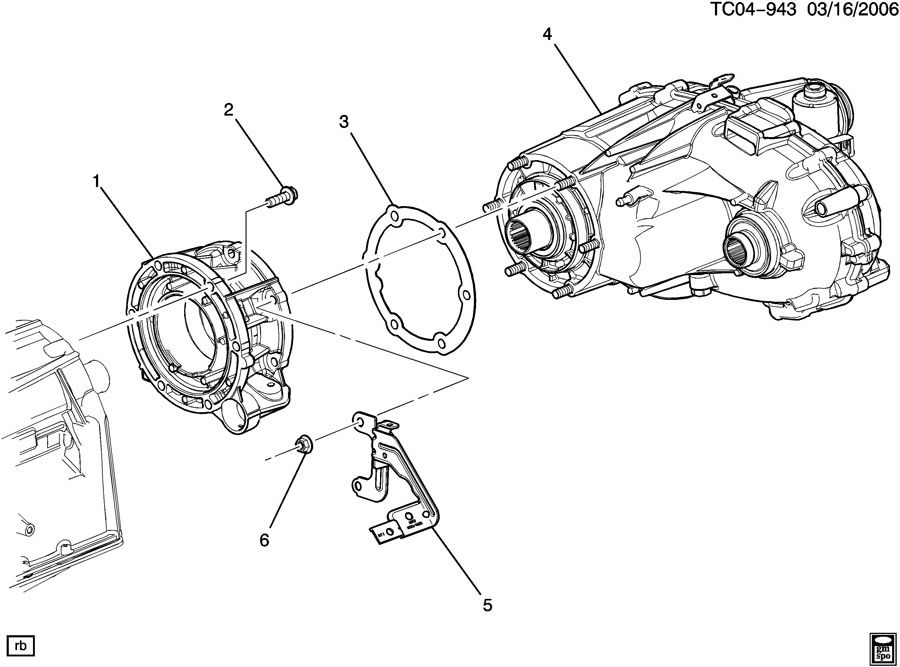 Chevrolet Silverado Gasket. Transfer case. Gasket, trfer
