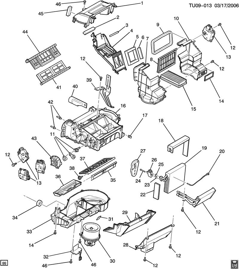 Chevrolet UPLANDER Valve. Temperature control. Valve, temp