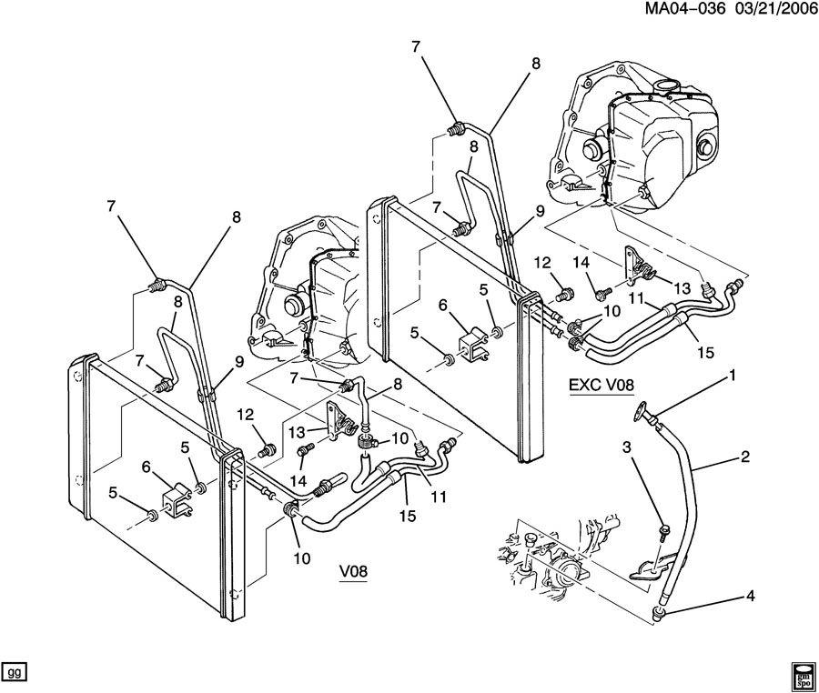 Buick Century Hose. Transmission oil cooler. Hose, trans