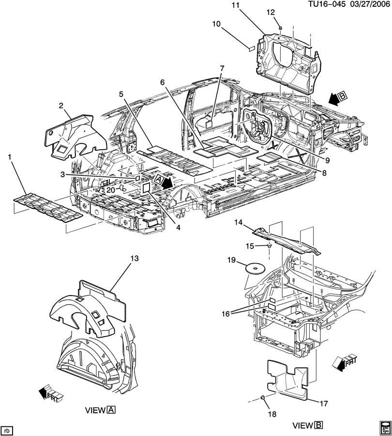 Chevrolet UPLANDER Adhesive; barrier; bushing; carrier