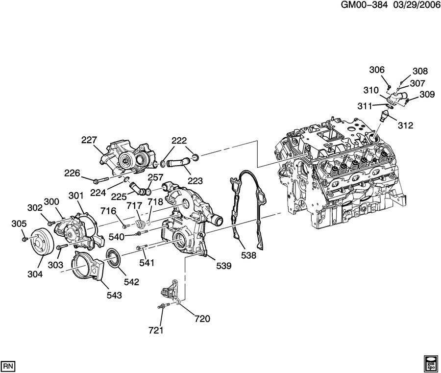 Pontiac Grand Prix Outlet. Engine coolant. Outlet, wat