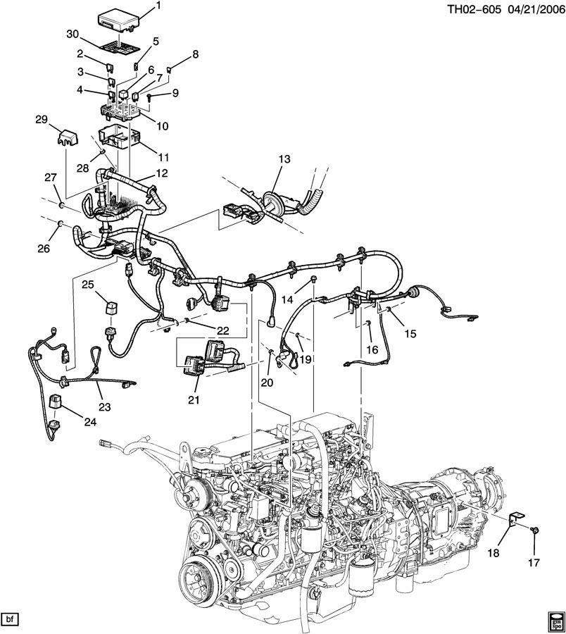 GMC C7500 Harness. Engine wiring. Warmup, shaftauto