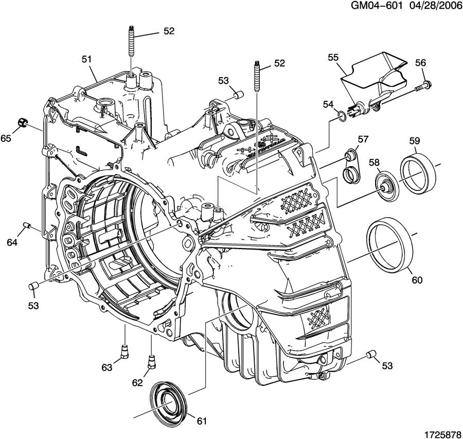 GMC ACADIA Bearing kit. Differential side gear. Cup. Final