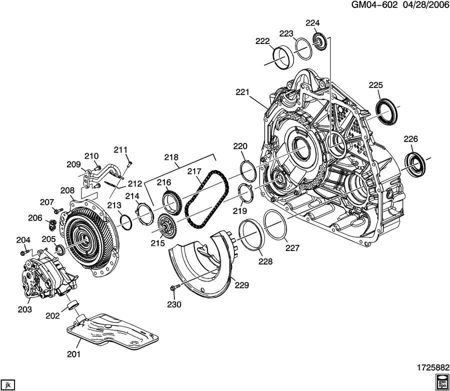 2008 Pontiac Torrent GXP AUTOMATIC TRANSMISSION