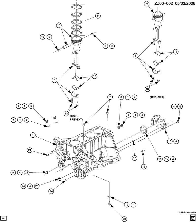 Saturn SC2 Seal. Engine rear main bearing. Seal, cr/shf rr
