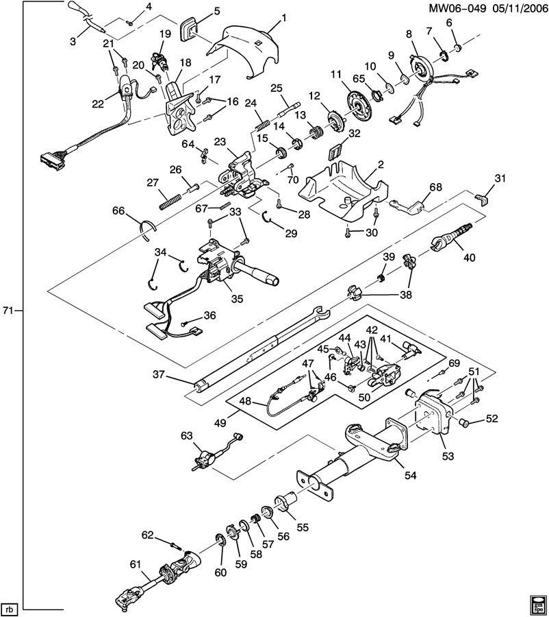 Buick Century Control. Transmission shift. Transmission
