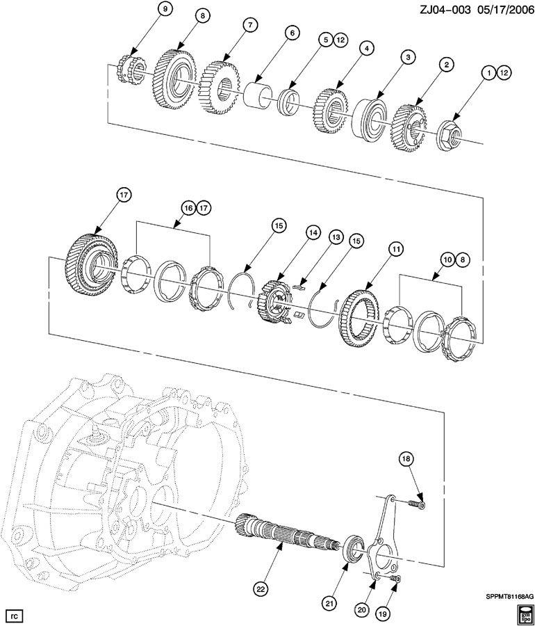 2005 Chevrolet Cobalt Transmission Synchronizer