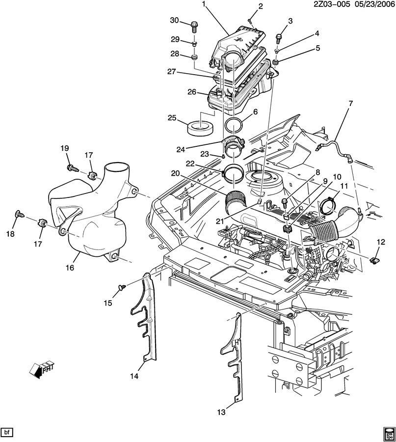 Pontiac G6 Tube. Engine crankcase ventilation. Tube, pcv