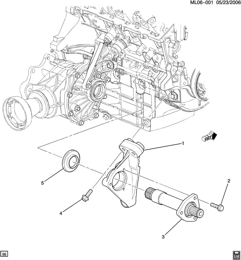 Chevrolet Equinox Bracket. Front wheel drive axle shaft