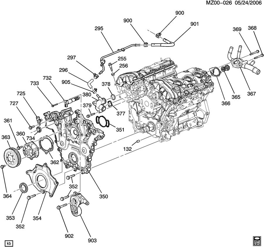 ENGINE ASM-3.6L V6 PART 4 FRONT COVER & COOLING