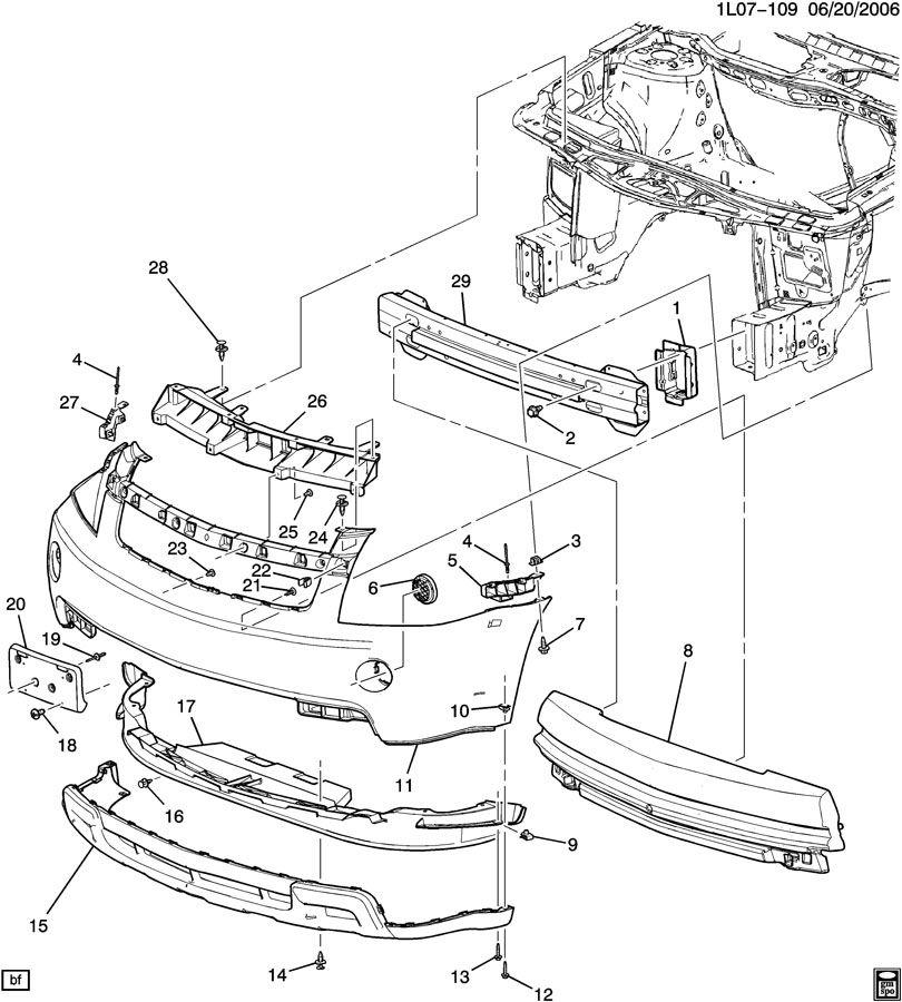 Chevrolet Equinox Support. Bumper/fascia. Modelenlarge