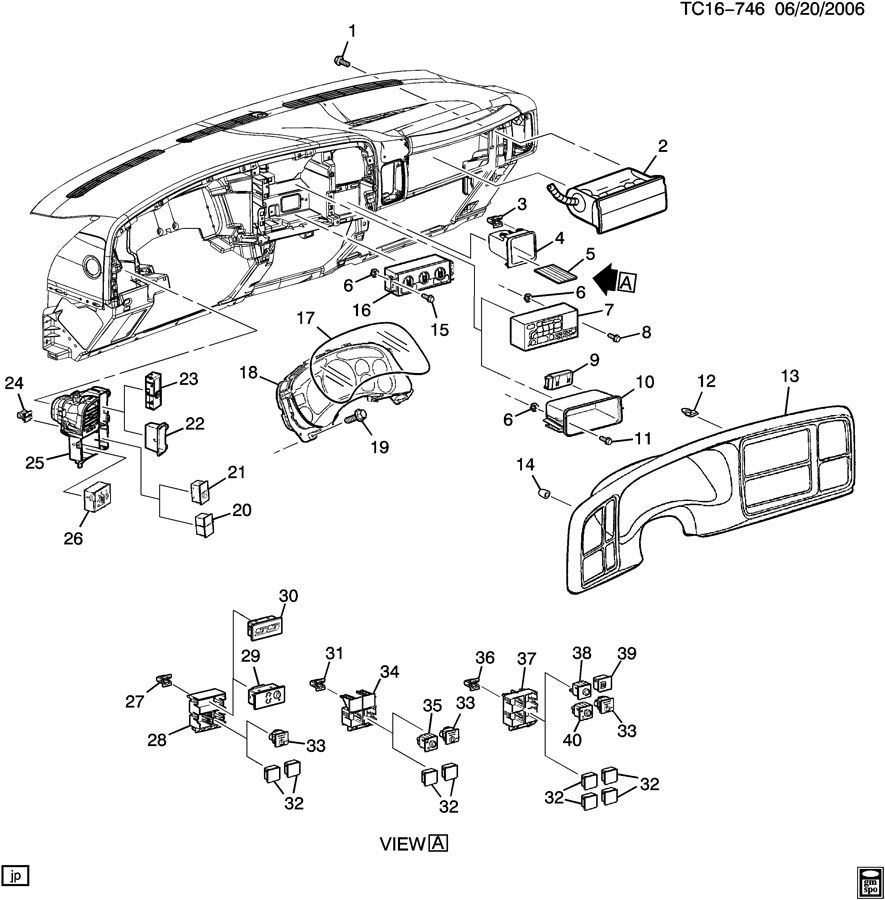 Chevrolet Silverado SS Switch. Rear window wiper/washer
