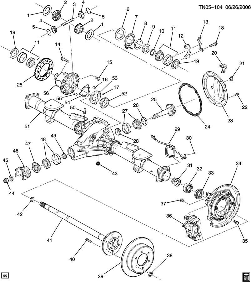 Hummer H3 Yoke kit. Propeller shaft pinion. Pgrincls