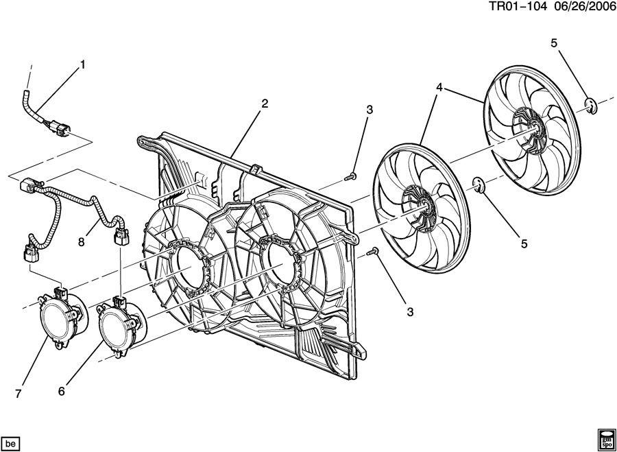 Chevrolet Traverse ENGINE COOLANT FAN