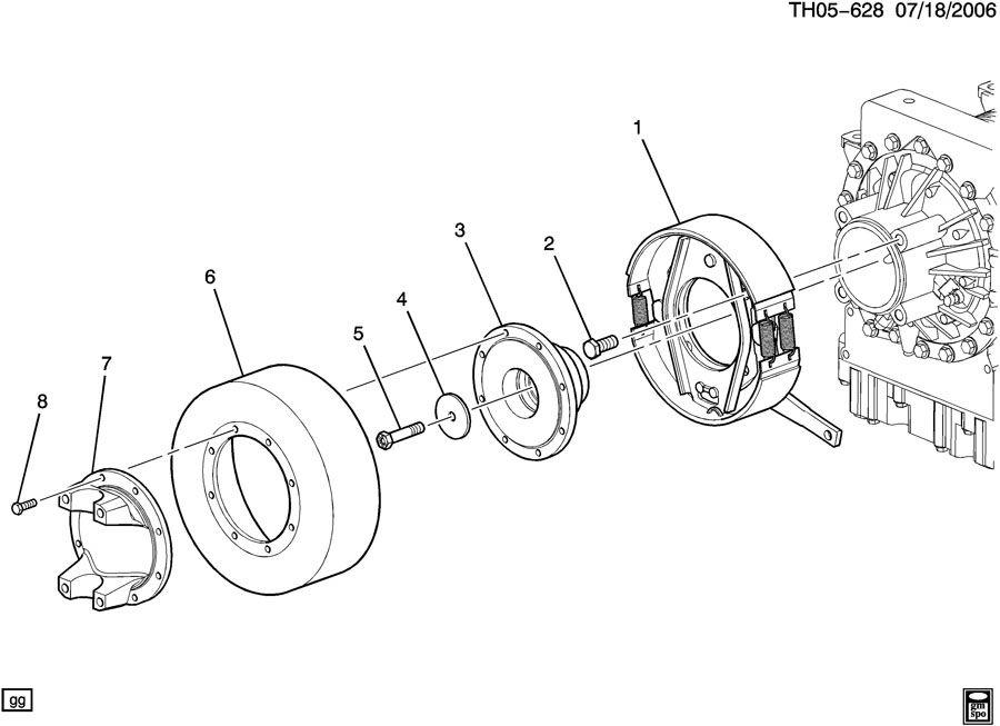 2004 Chevrolet T6500 Brake. Driveline parking brake