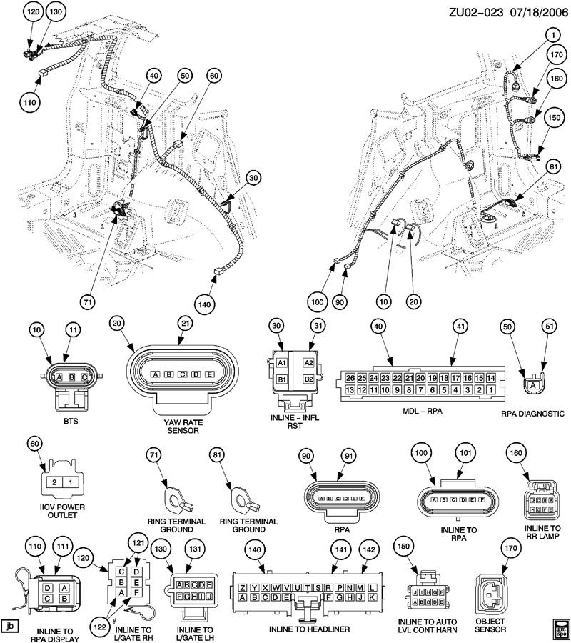2006 Buick Lucerne Connector, wiring harness