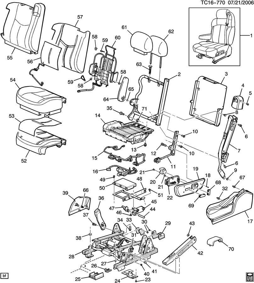 Hummer H2 Seat Adjuster/Recliner. MOTOR KIT. MOTOR