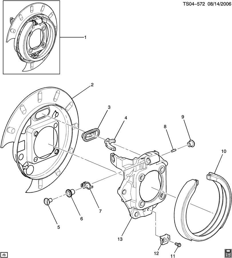 Chevrolet TRAILBLAZER Brake. Parking brake apply. Brake