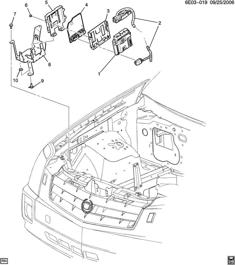 Cadillac SRX Module. Transmission control module