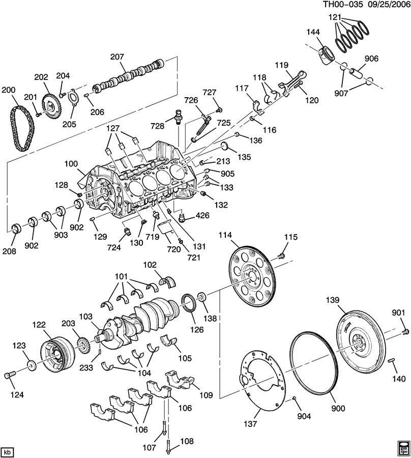 GMC C4500 Bearing. Engine crankshaft clutch pilot