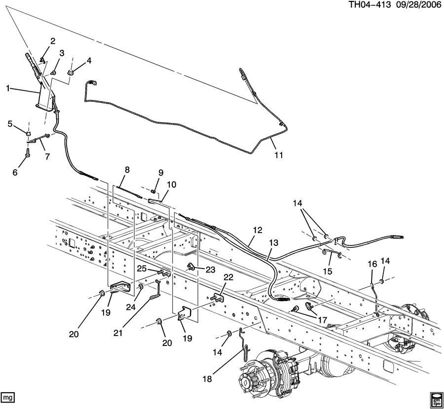 PARKING BRAKE SYSTEM-HAND LEVER