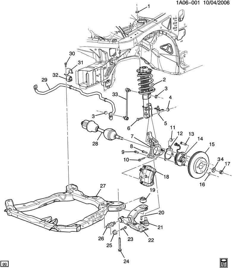 2005 Chevrolet Cobalt LS 2DR Bolt. Shock absorber/strut