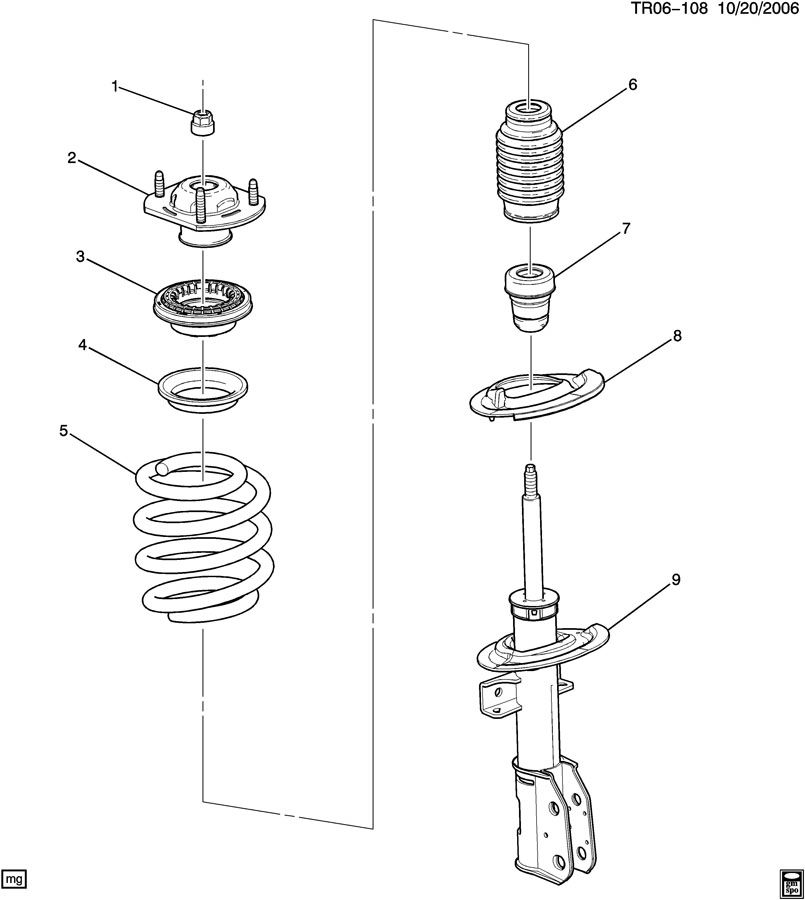 2012 Chevrolet Traverse Strut. Front and rear suspension