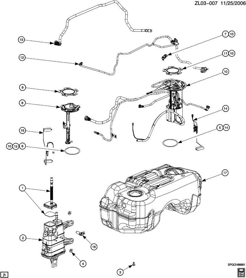 Saturn Vue Valve. Fuel tank evaporator/purge control