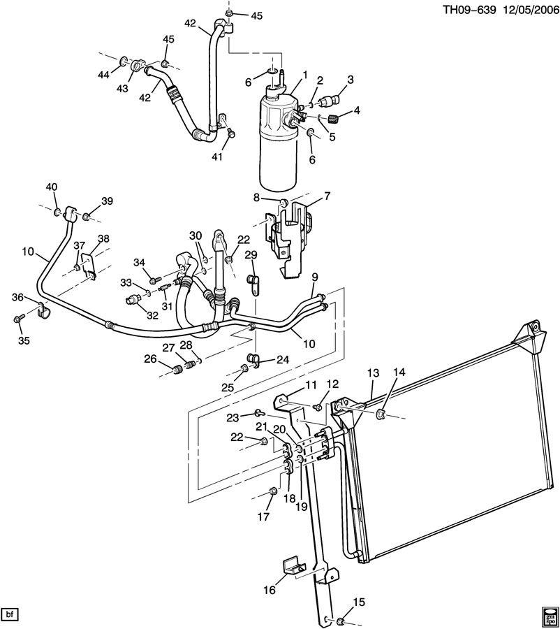 GMC C8500 Hose. Air conditioning (a/c) compressor suction
