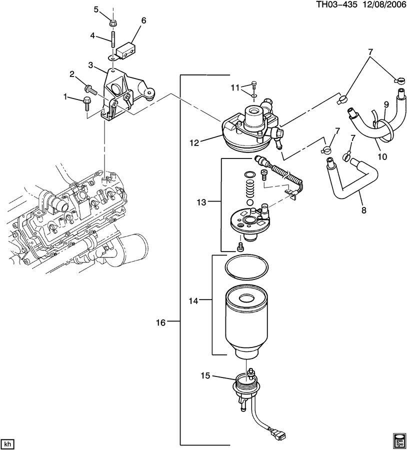 duramax fuel filter head assembly rebuild kit
