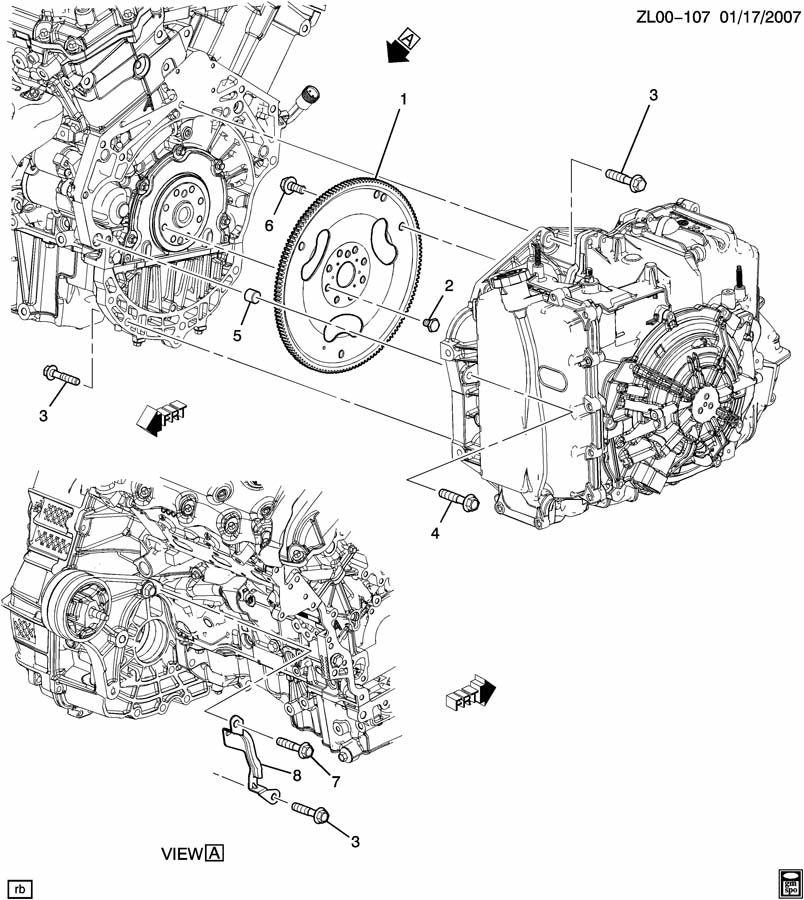 Saturn Vue ENGINE TO TRANSMISSION MOUNTING; TRANSMISSION