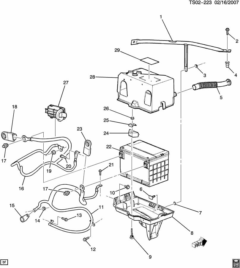 Chevrolet TRAILBLAZER BATTERY CABLES & RELATED PARTS