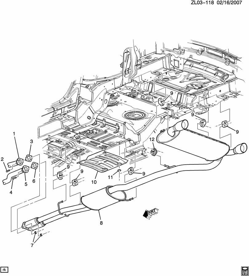 Saturn Vue Exhaust Muffler/Resonator. HANGER. INSULATOR