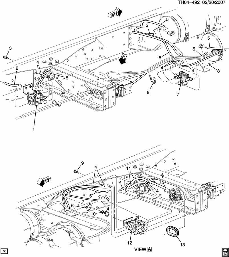 GMC C8500 Valve. Air brake valve. Valve, air brk park cont