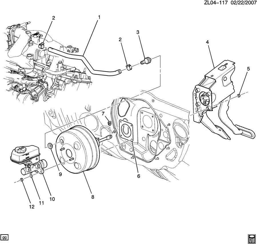 Saturn Vue Vacuum Power Brake Booster Check. VALVE KIT