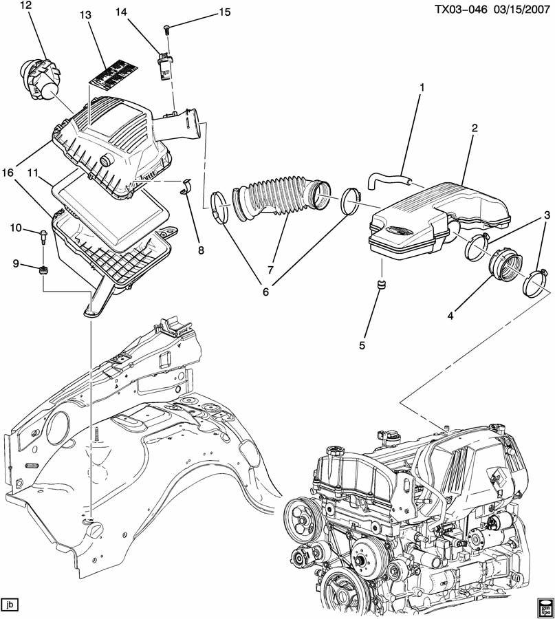 Chevrolet COLORADO Hose. Engine crankcase ventilation