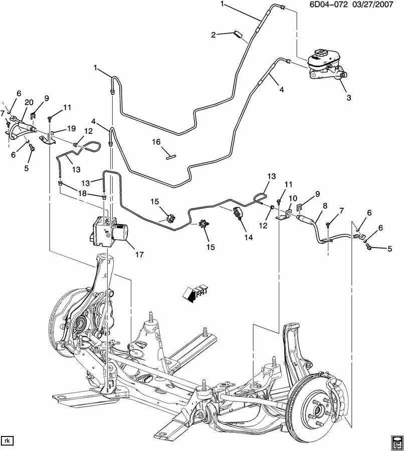 Cadillac CTS Pipe. Hydraulic brake. Pipe, brk press mod