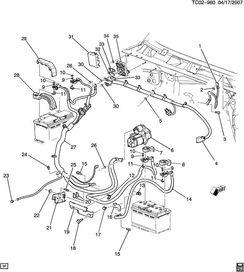 Chevrolet Silverado 2500 Battery Cable Harness. Silverado
